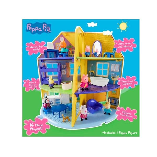 Peppa Pigs Peppa's Family Home House Toy Playset Includes Peppa Pig Figure